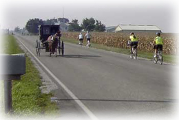 Bicycles and Amish Buggies