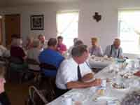 Large Group Meal on amish Farm, Arthur Illinois