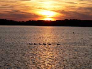 Lake Shelbyville near Arthur, Illinois